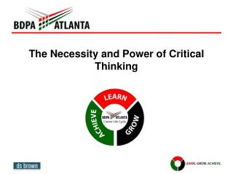 Critical thinking and critical reading ppt